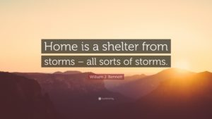 Home is a shelter